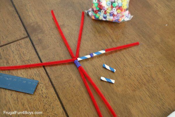 add straws onto body