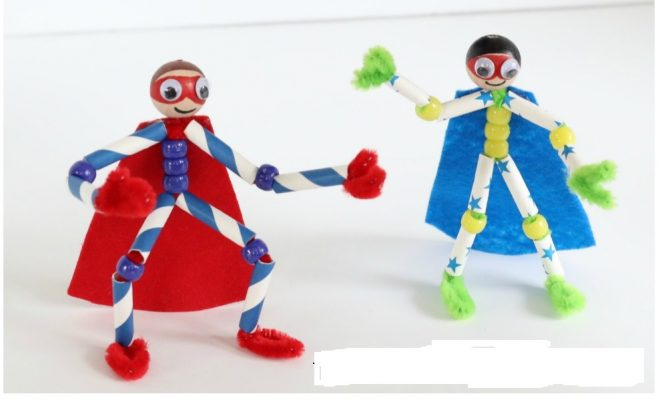 two superheroes
