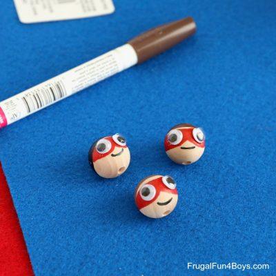 stick on eyes on beads