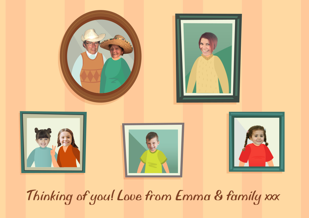 Create your own personalised family photo frames picture