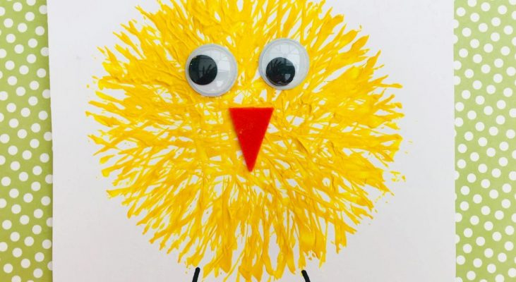 easter chick made from fork