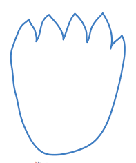 dinosaur foot template