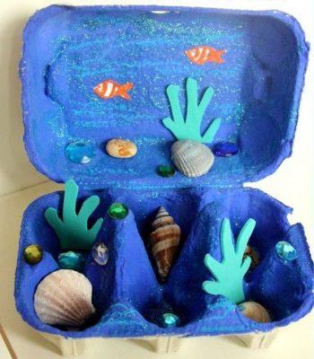 egg box ocean bed