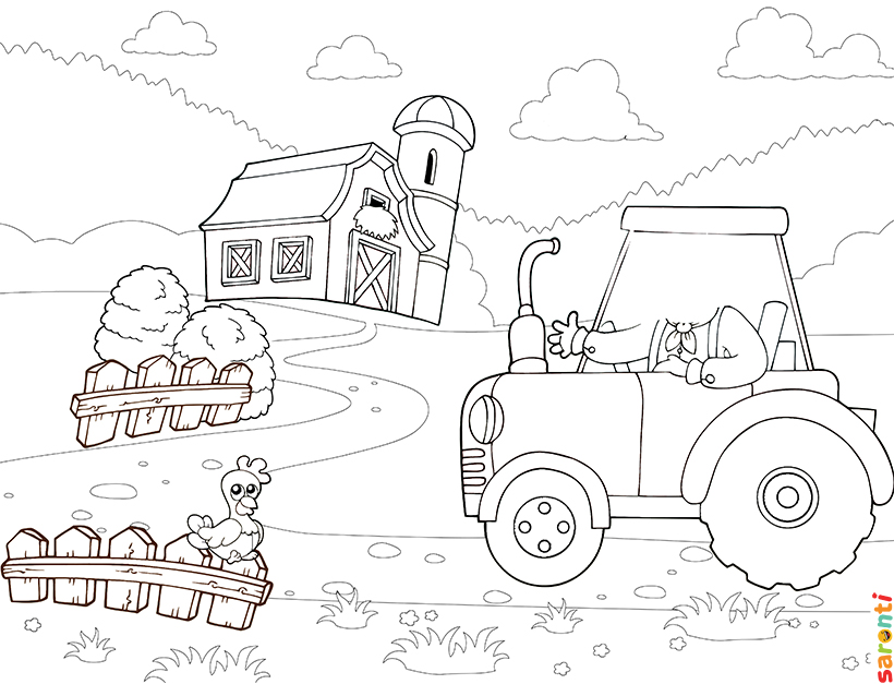 personalised-colouring-farmer-tractor