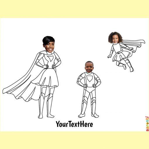 personalised-colouring-superheroes-1mum-1boy-1girl
