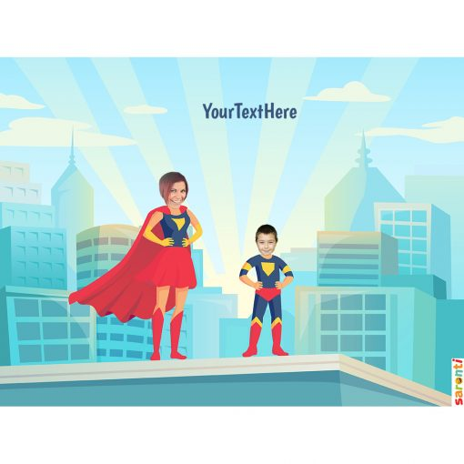 personalised-picture-family-superheroes-1mum-1boy