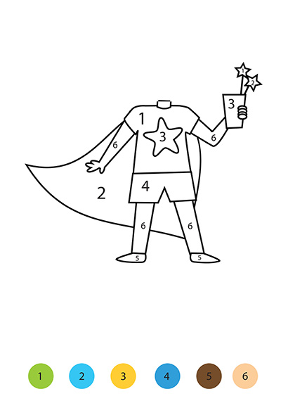 create your own personalised Paint-by-number boy superhero