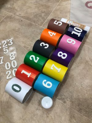 teach your toddler numbers & colours with loo rolls