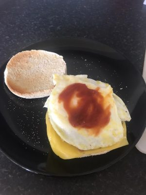 ketchup on egg