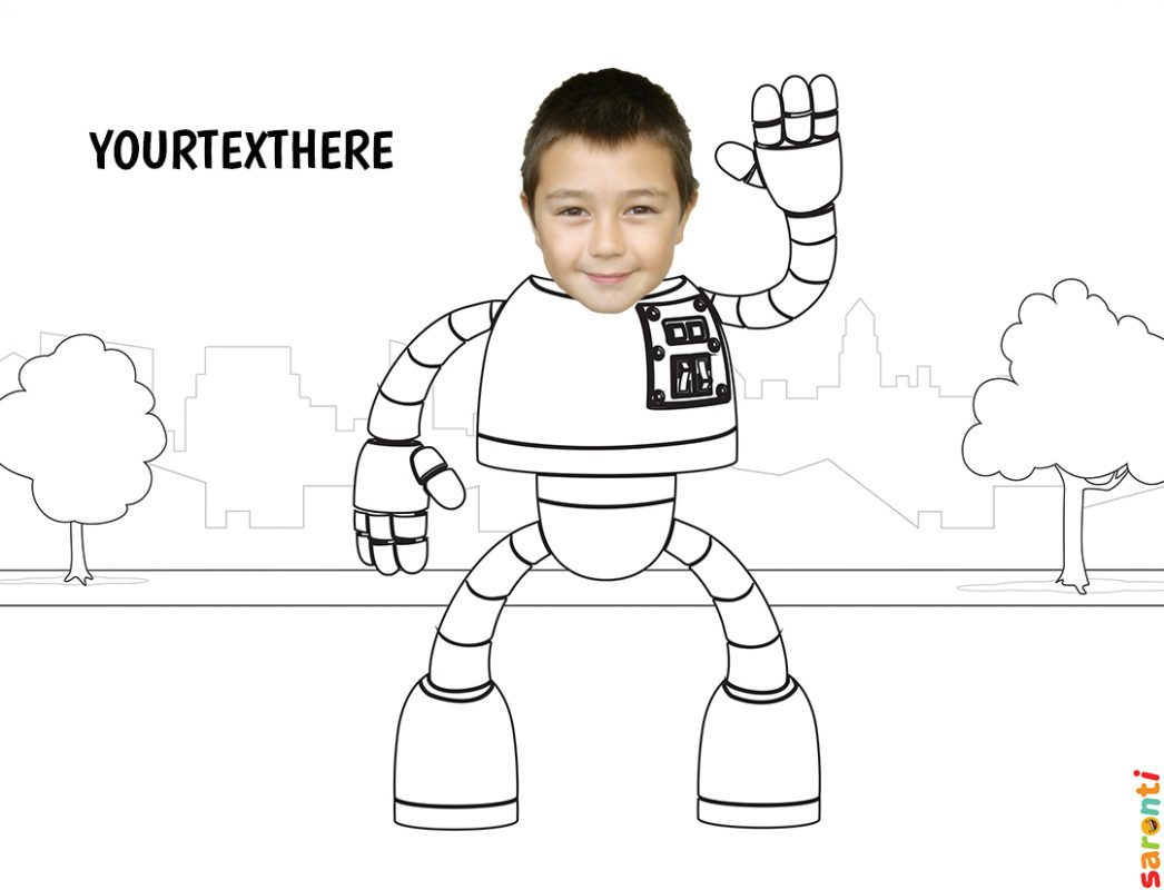 personalised-colouring-robot