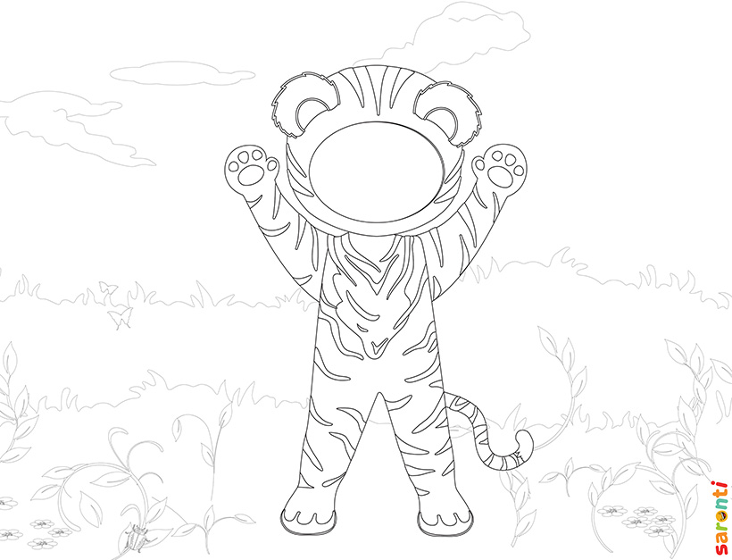 personalised-colouring-tiger