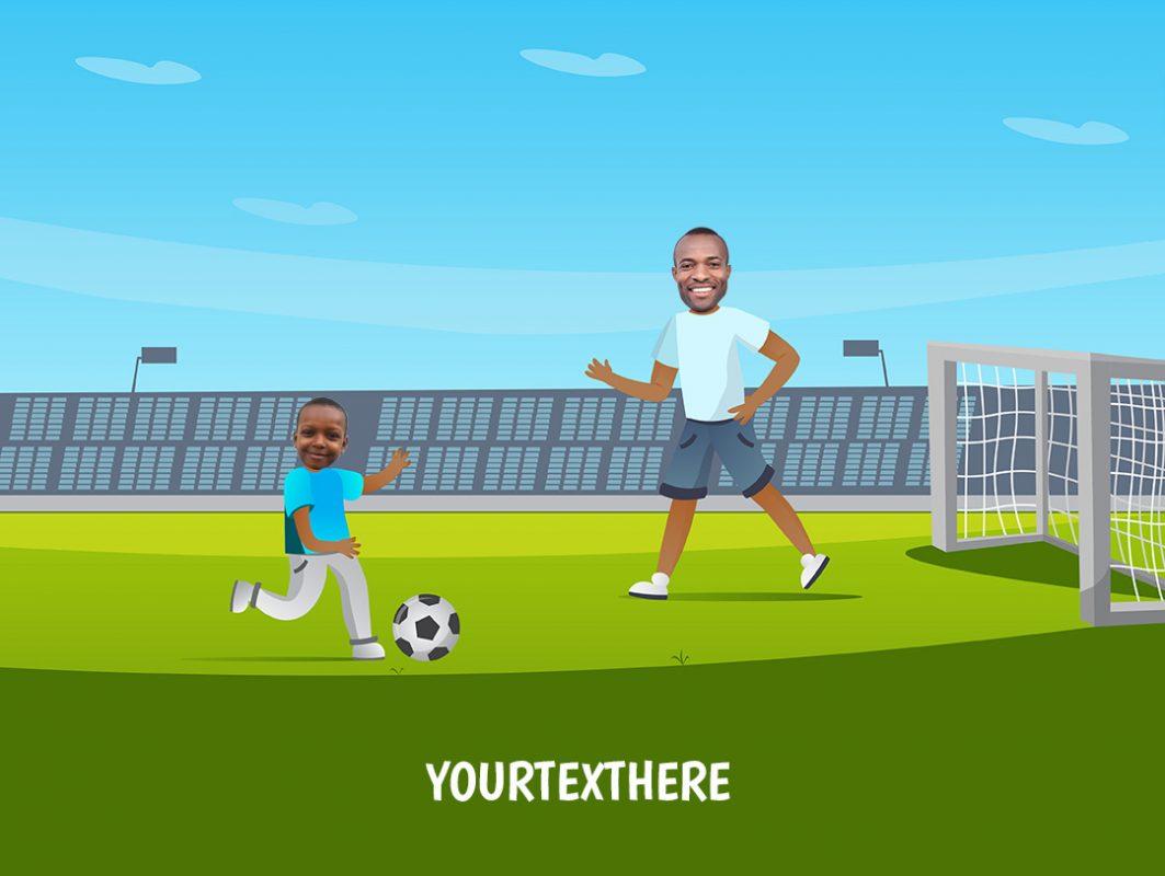 personalised-family-portrait-football-1adult-1kid