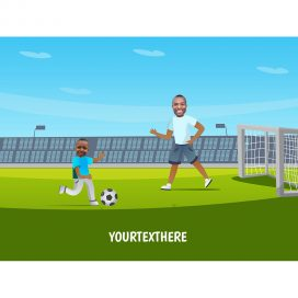 personalised-family-portrait-football-1adult-1kid