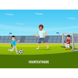 personalised-family-portrait-football-1adult-2kids