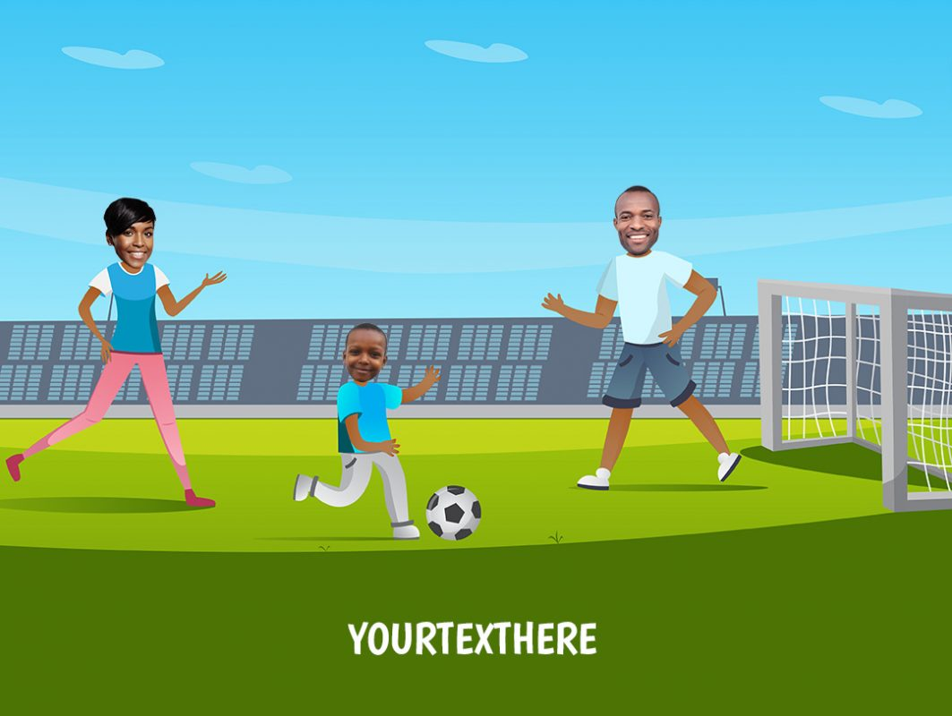 personalised-family-portrait-football-2adults-1kid