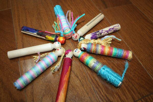 clothes pegs worry dolls