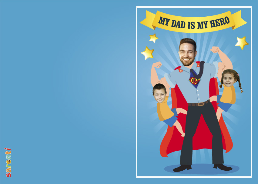 personalised-fathers-day-card-Superhero-2-kids-portrait