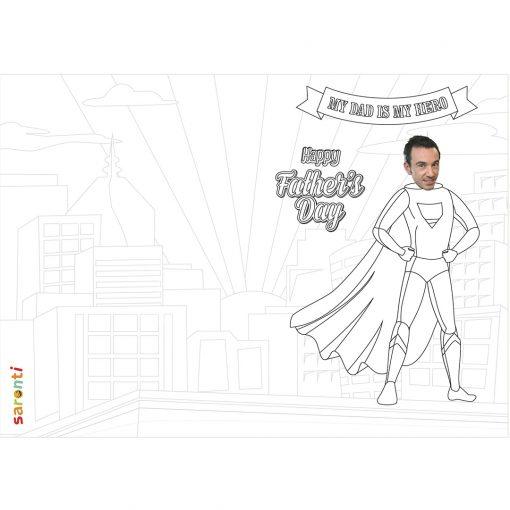 superhero dad colouring