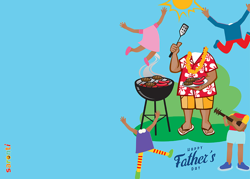 personalised-fathers-day-card-barbecue-4kids-portrait_D