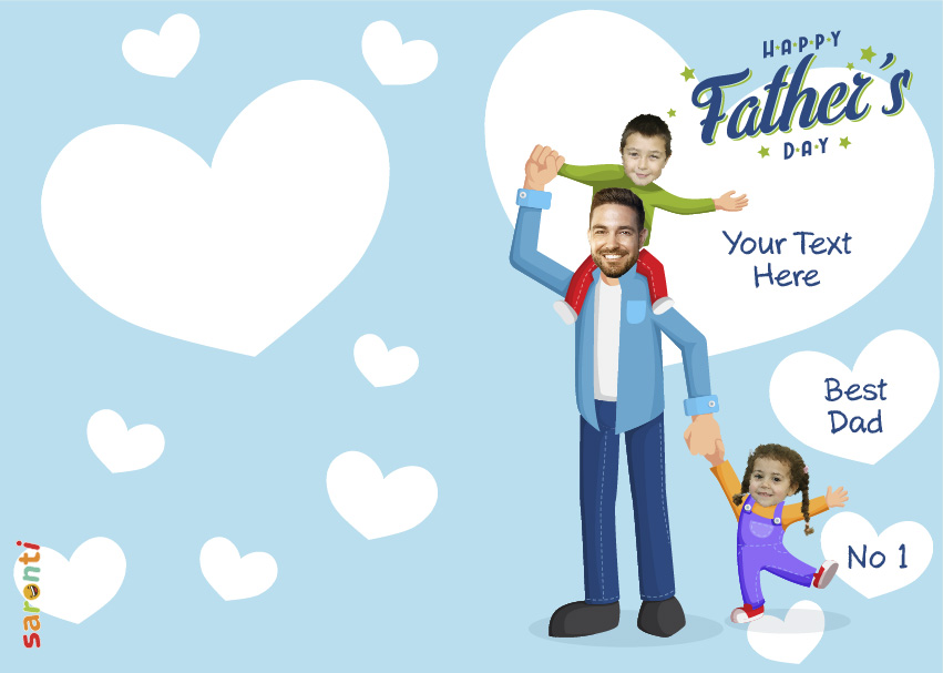 personalised-fathers-day-card-dad-2-kids-portrait