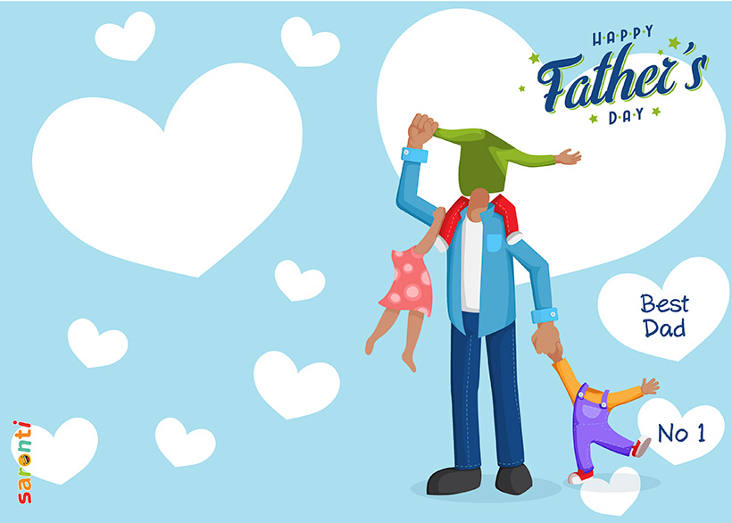 personalised-fathers-day-card-dad-3-kids-portrait_D