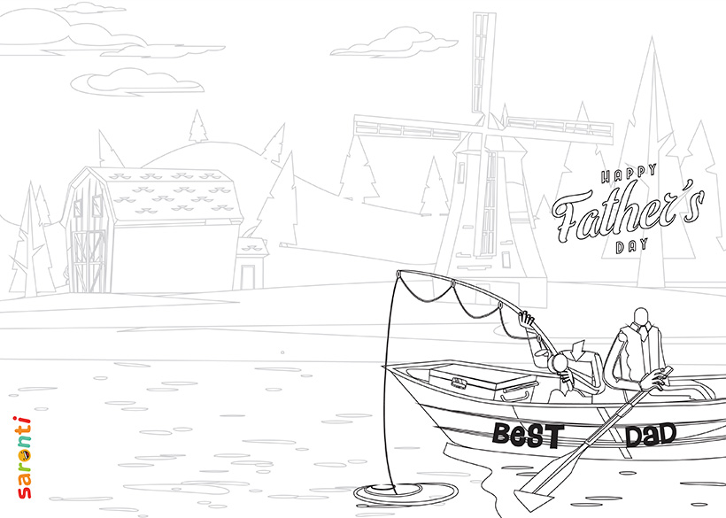 personalised-fathers-day-card-fishing-colouring