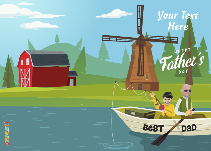 personalised-fathers-day-card-fishing-portrait