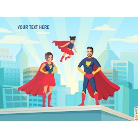 personalised-picture-family-superheroes-mum-dad-girl