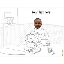 basketball kids colouring