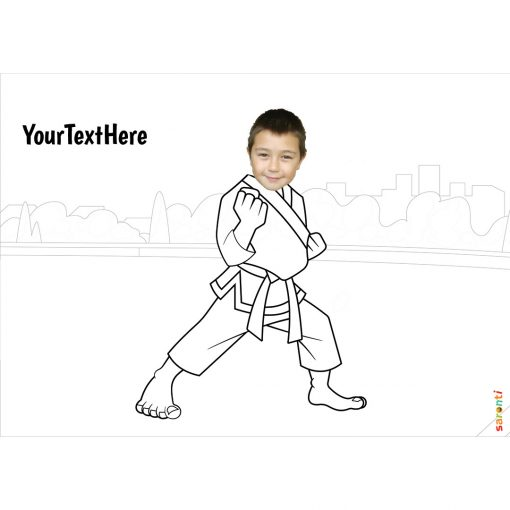karate colouring
