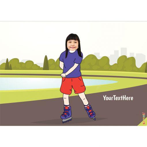 roller skater portrait