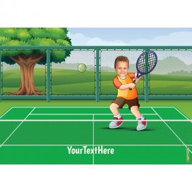 tennis player kids portrait