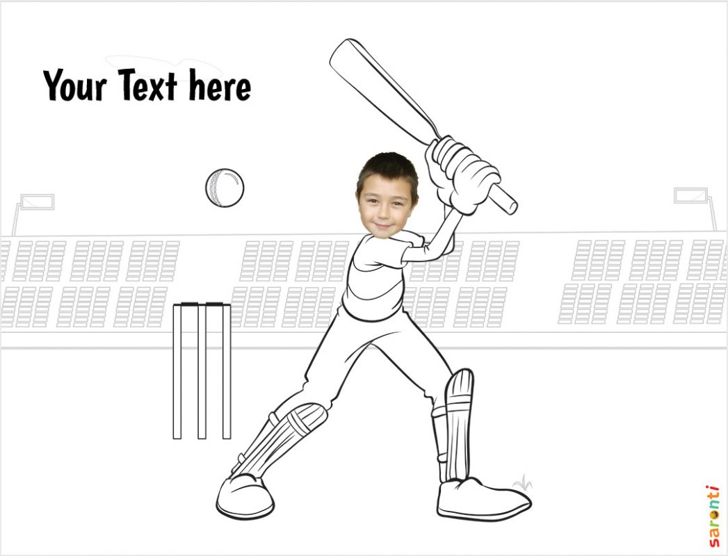 personalised-colouring-cricket-player