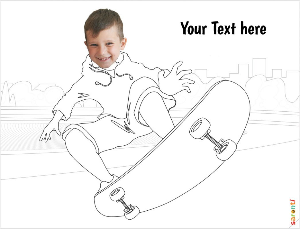 skateboard-personalised-colouring-with-kids-faces